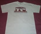 White Tee Shirt w/J.A.M. Breast Logo