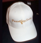 White Flexfit Cap w/Gold PJS Logo