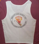 White Tank w/Badge Logo Back