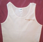 White Tank w/Pocket Gold Logo & Back Badge Logo