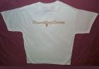 White Tee Shirt w/Broadback Gold PJS Logo