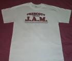 White Tee Shirt w/J.A.M. Breast Logo