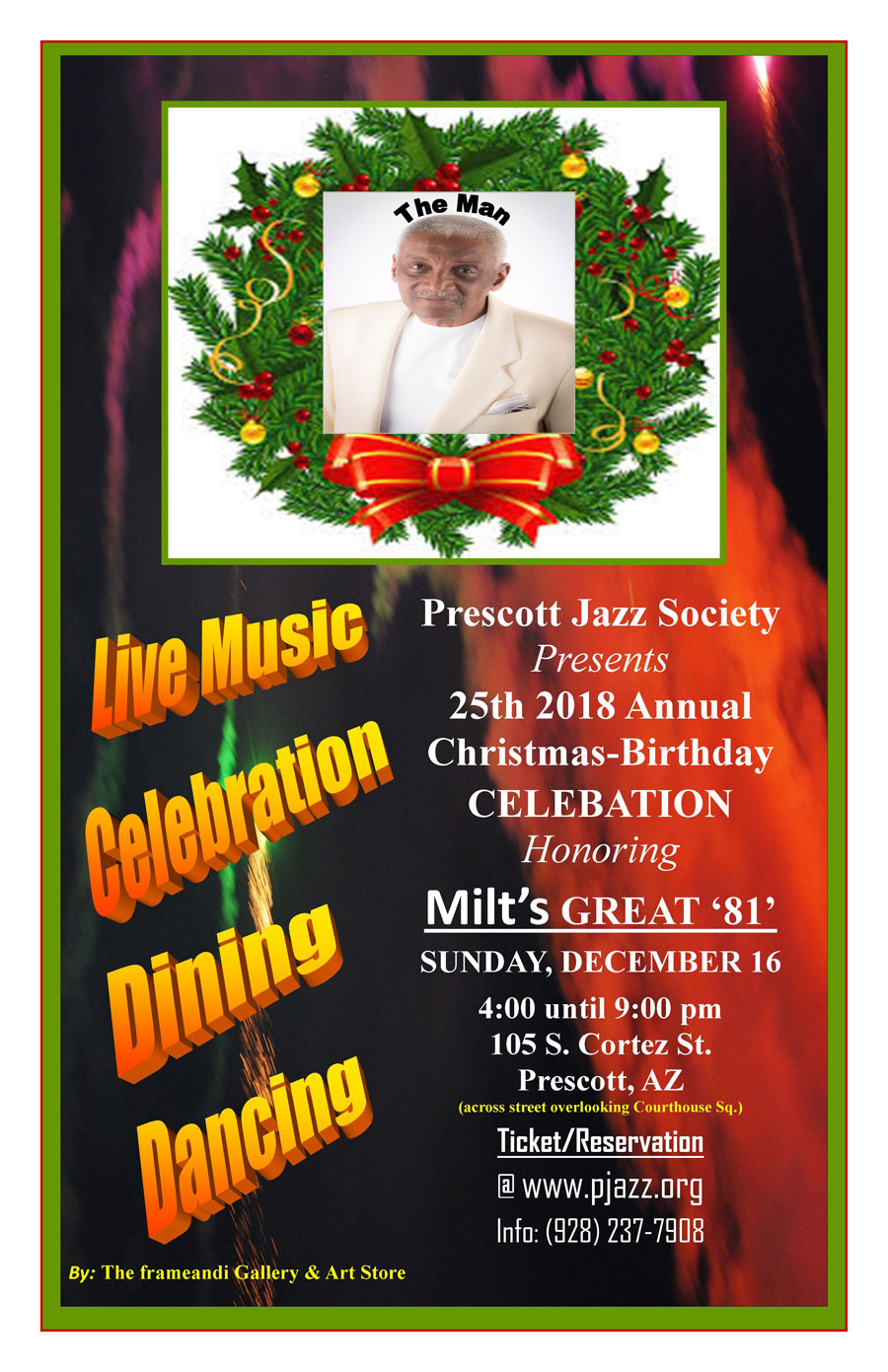 Pjazz 2018 Christmas Party poster